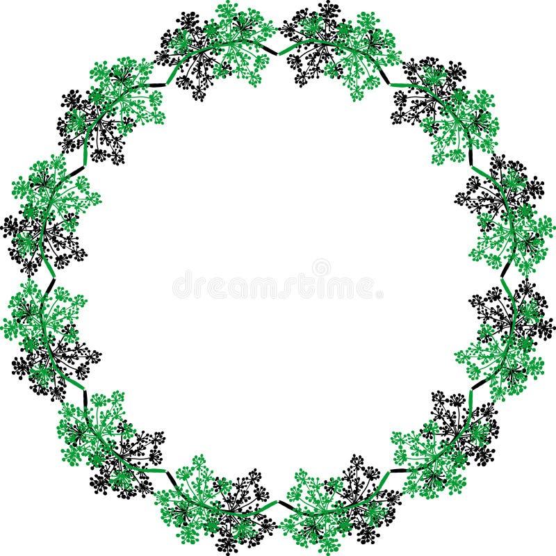 Frame floral Detalhe botânico Elemento para o projeto dos cartões, convites, cartaz, bandeira, Web ilustração do vetor