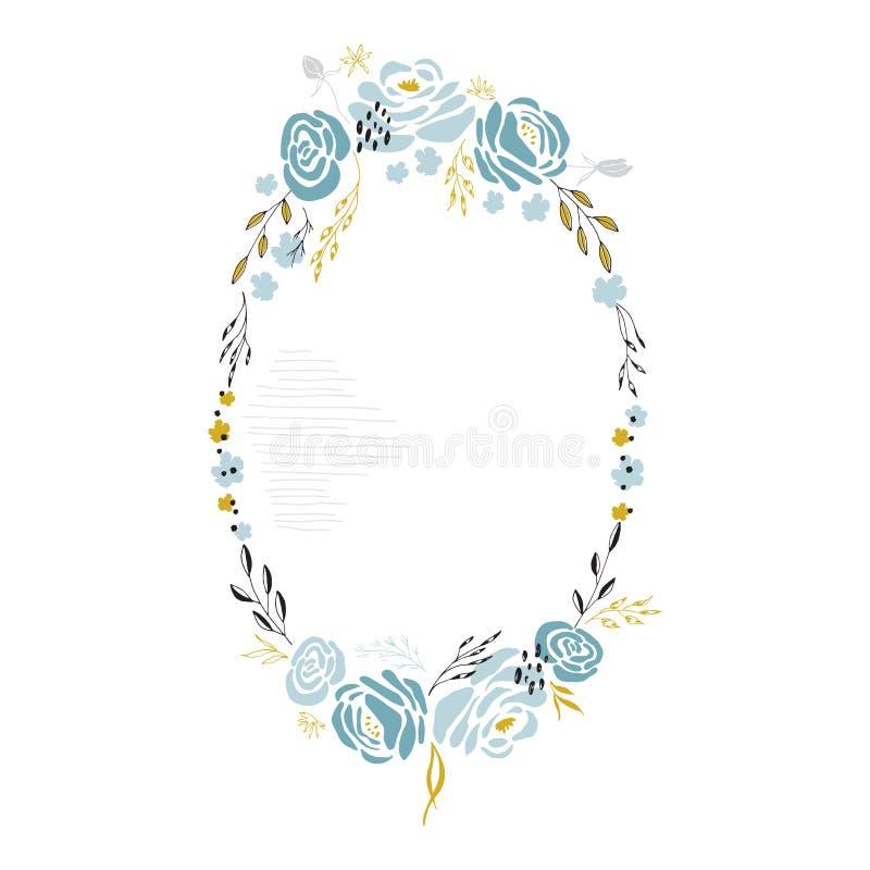 Frame floral do vetor ilustração royalty free
