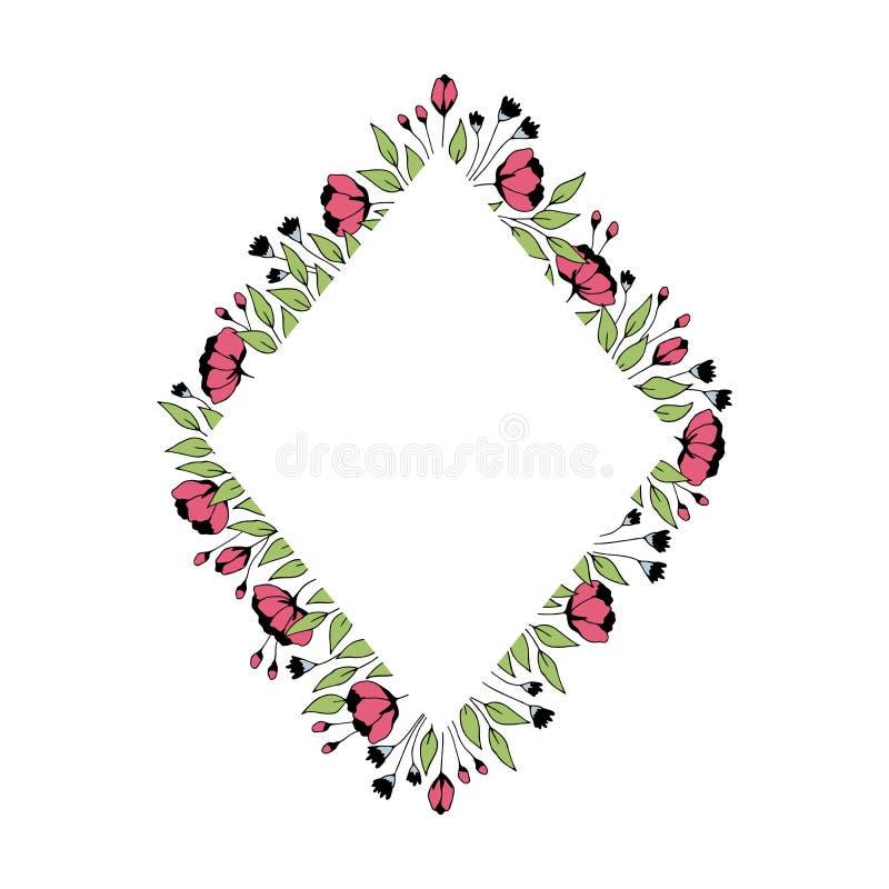 Frame floral do vetor ilustração stock