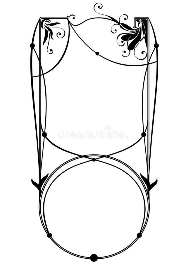 Frame floral do vetor ilustração do vetor