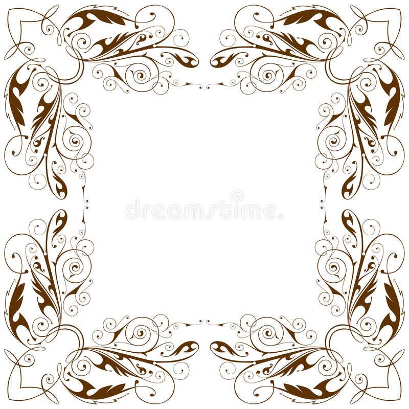Frame floral do vintage do vetor ilustração royalty free