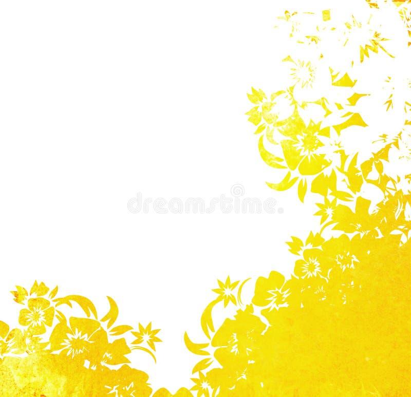 Frame floral dos fundos do estilo ilustração stock