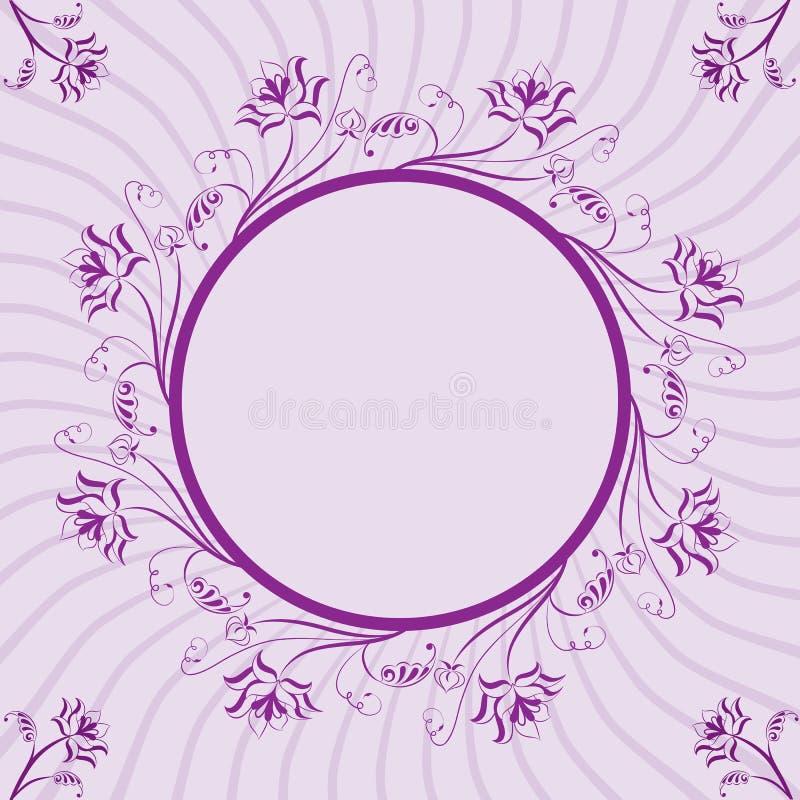 Frame floral, elemento para o projeto, vetor ilustração stock
