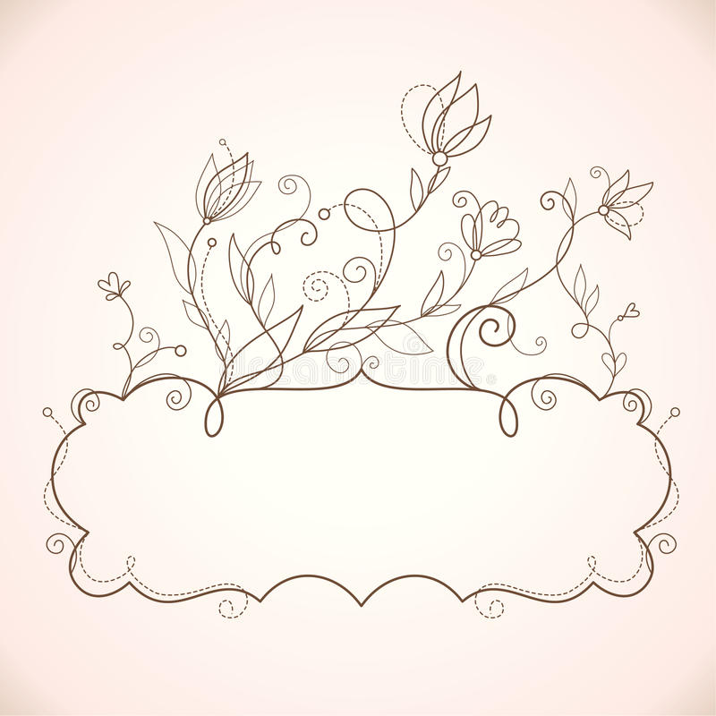 Download Frame  With Floral Elements Stock Vector - Image: 19184759