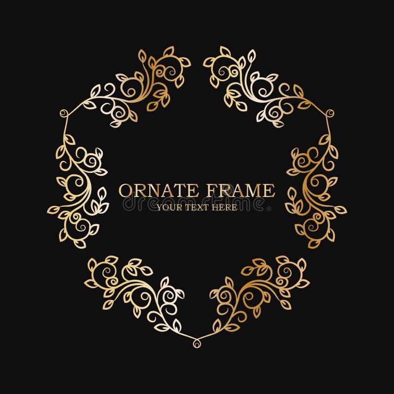 Frame floral ornamentado Ilustração isolada vetor ilustração stock