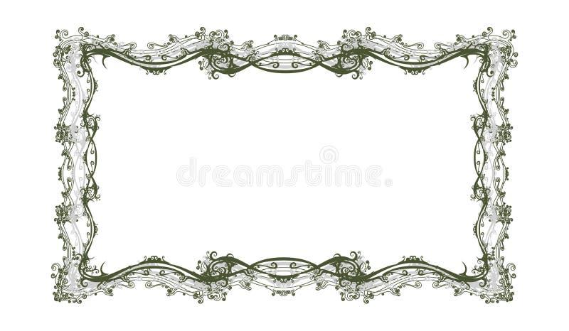 Frame floral retro decorativo ilustração royalty free