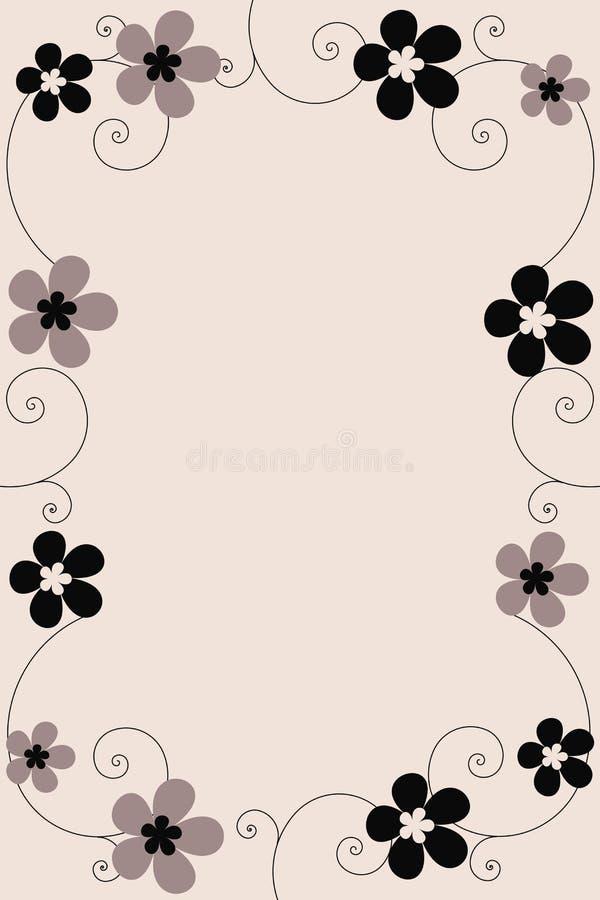 Frame floral - vetor ilustração royalty free