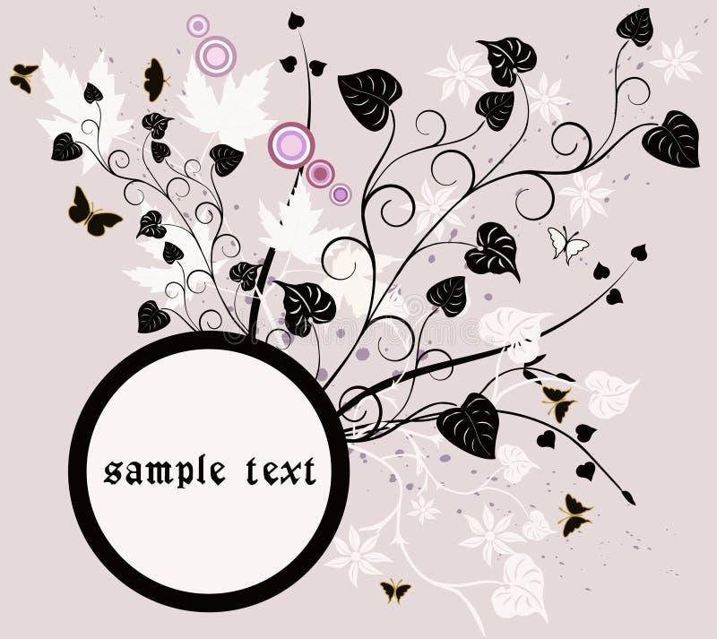 Frame floral - vetor ilustração stock
