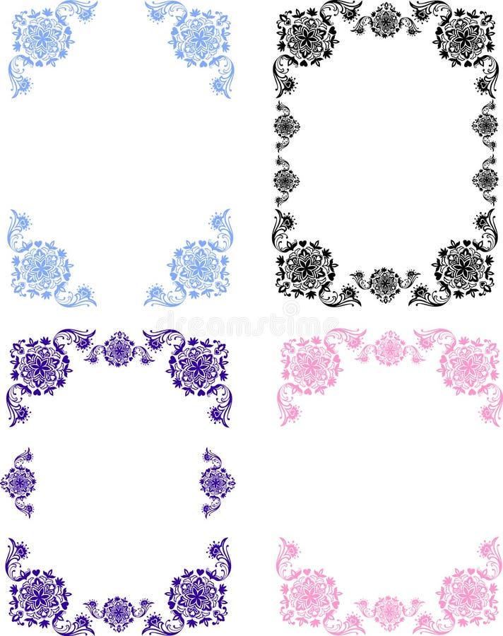 Frame.flower装饰品 库存例证