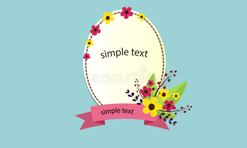 Frame flower text stock photography