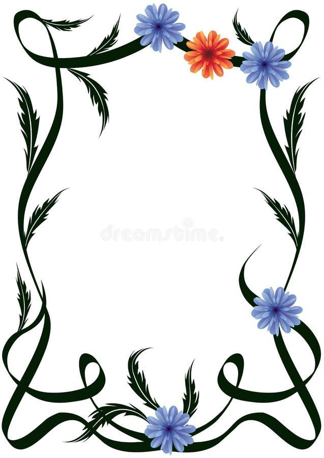 Frame of flowers royalty free illustration
