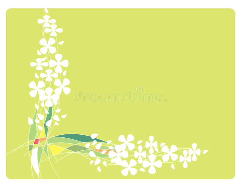 Download Frame With Flowers And Lines Stock Vector - Image: 10405920
