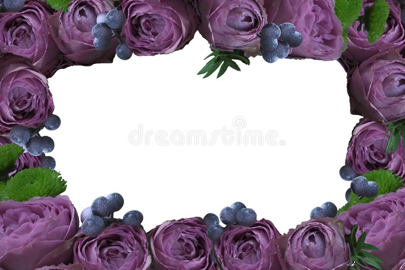 Frame of flowers. png royalty free stock photo