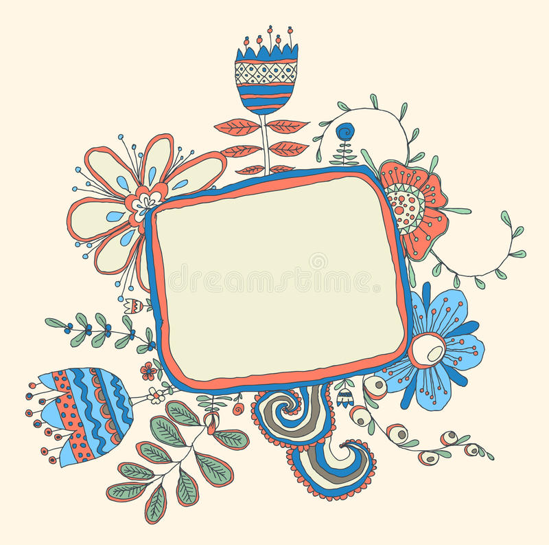 Download Frame with flowers stock vector. Image of banner, element - 34442526