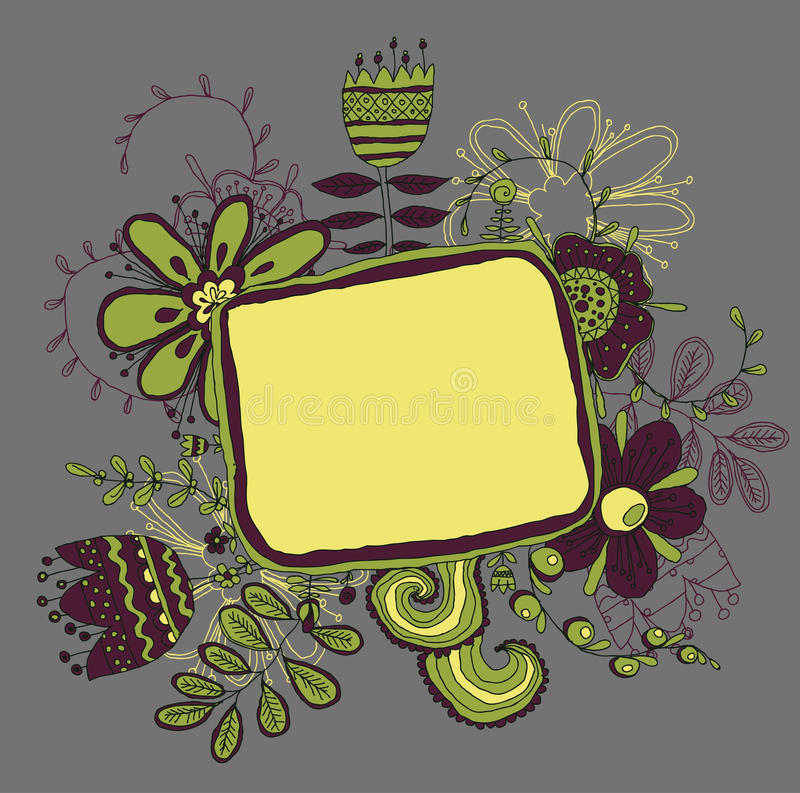Download Frame with flowers stock vector. Illustration of gift - 34442562