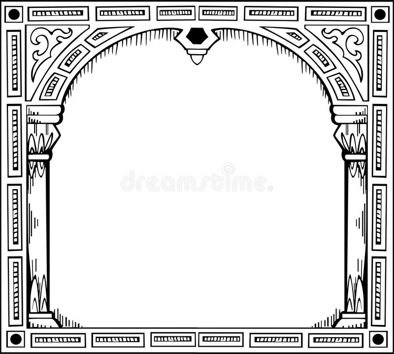 Download Frame in form of gate stock vector. Illustration of decorative - 24740840