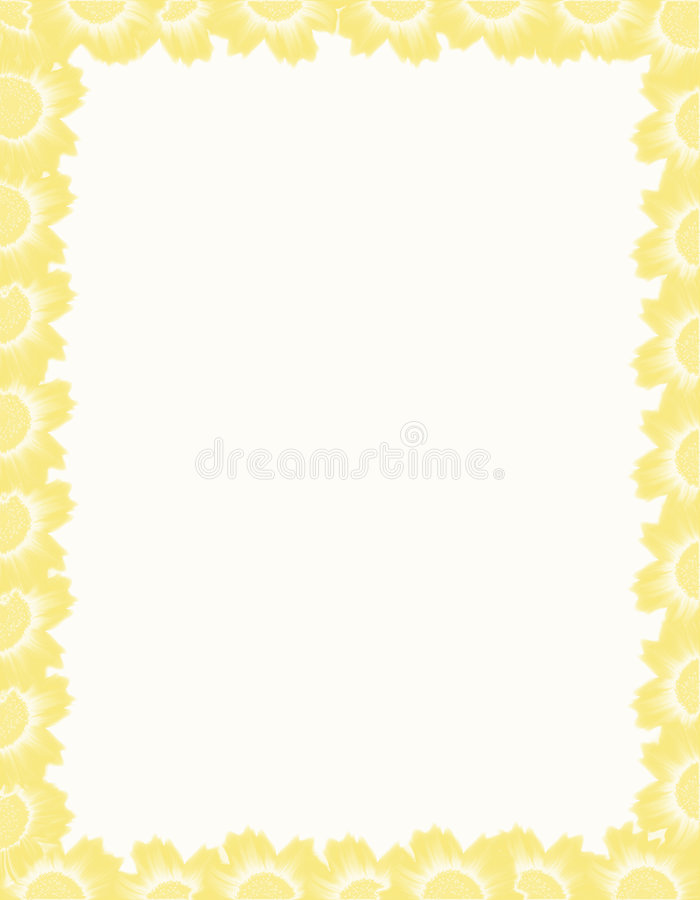 Free Frame From Yellow Flowers. Stock Photos - 4309373