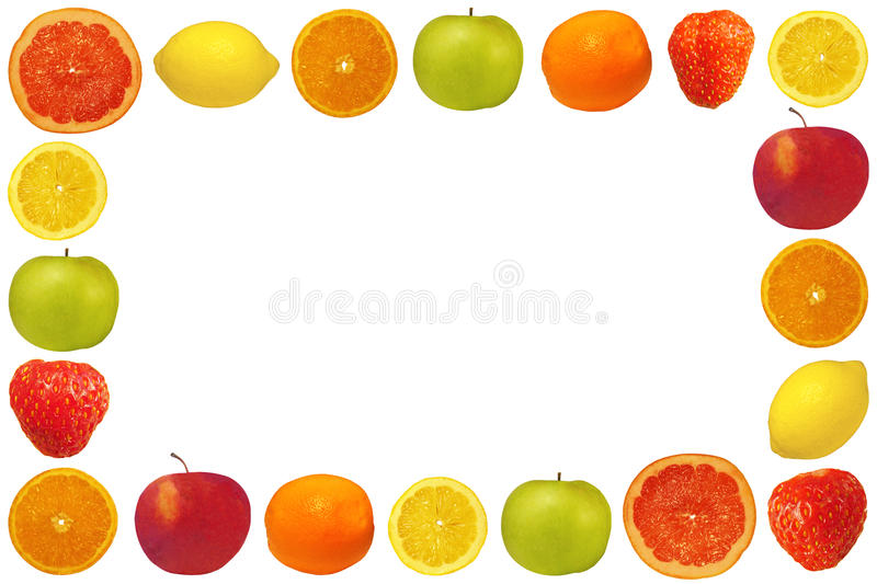 Frame from fruit and berries stock photos
