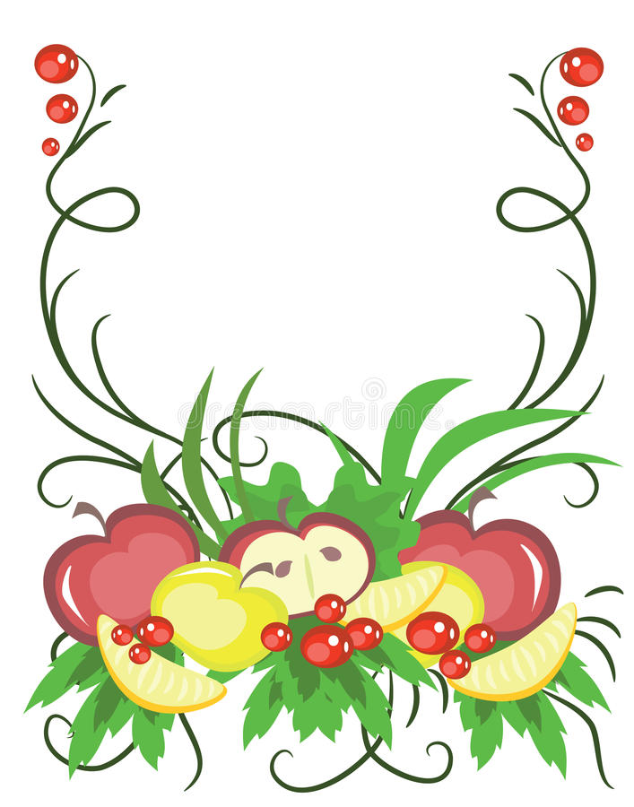 Download Frame With Fruits. Stock Photo - Image: 24422710