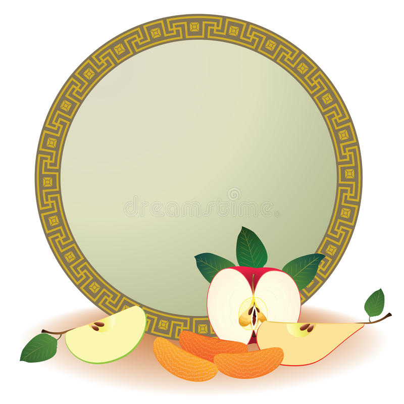 Download Frame with fruits stock vector. Image of segment, eps10 - 24667376