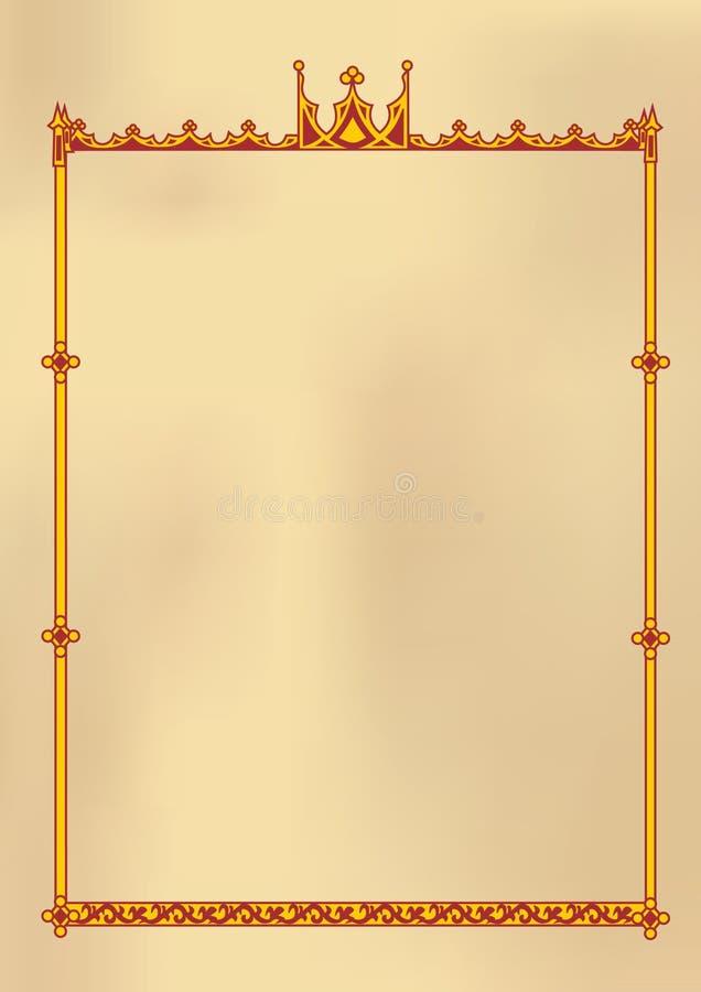 Frame gótico ilustração do vetor