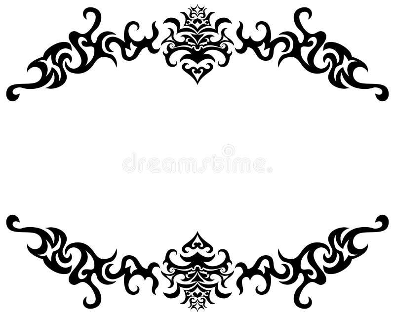 Frame gótico ilustração stock