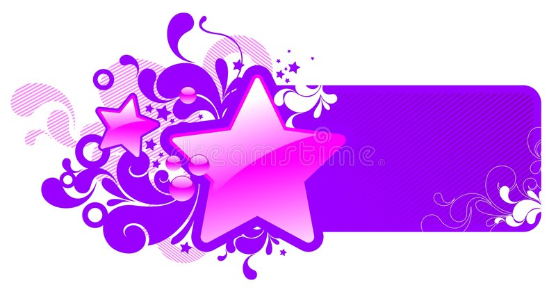 Frame with glossy stars. Vector illustration