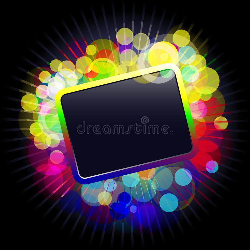Frame with glowing dots