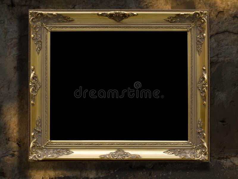 Frame gold retro royalty free stock image