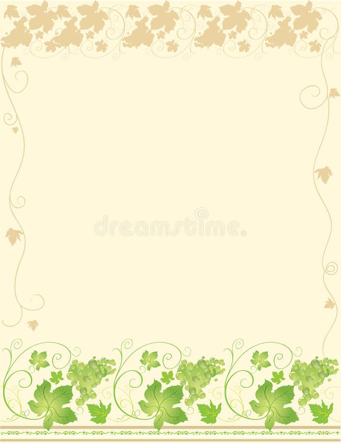 Frame with grape vector illustration