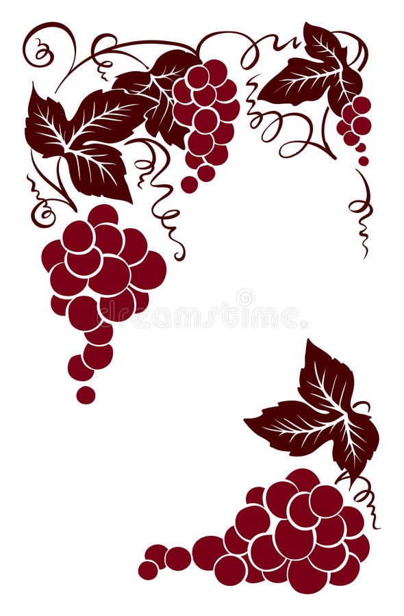 Download Frame From Grapes Stock Vector - Image: 83705943