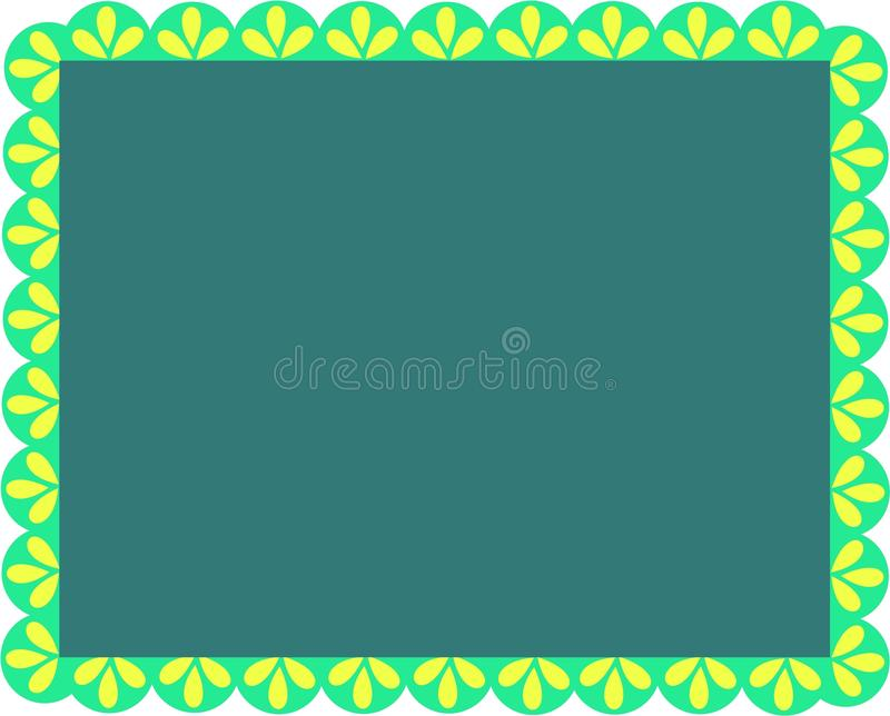 Download Frame of Greens and Leaves stock vector. Image of message - 14442662