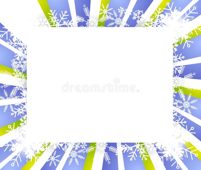 Frame of Grens 2 van de sneeuwvlok vector illustratie