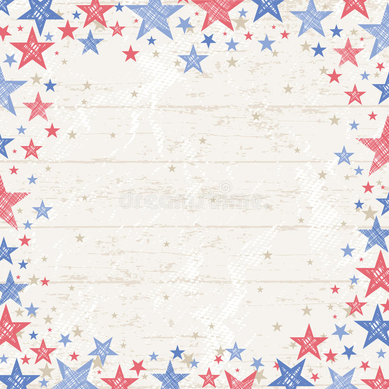 Frame of grunge usa background, vector illustration royalty free stock photography