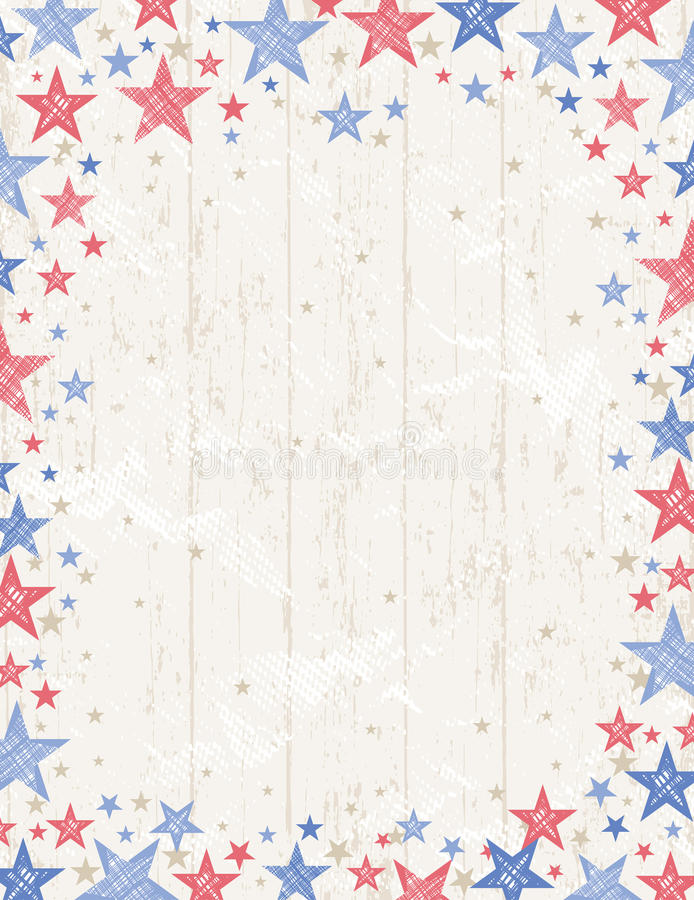 Frame of grunge usa background, vector royalty free stock images