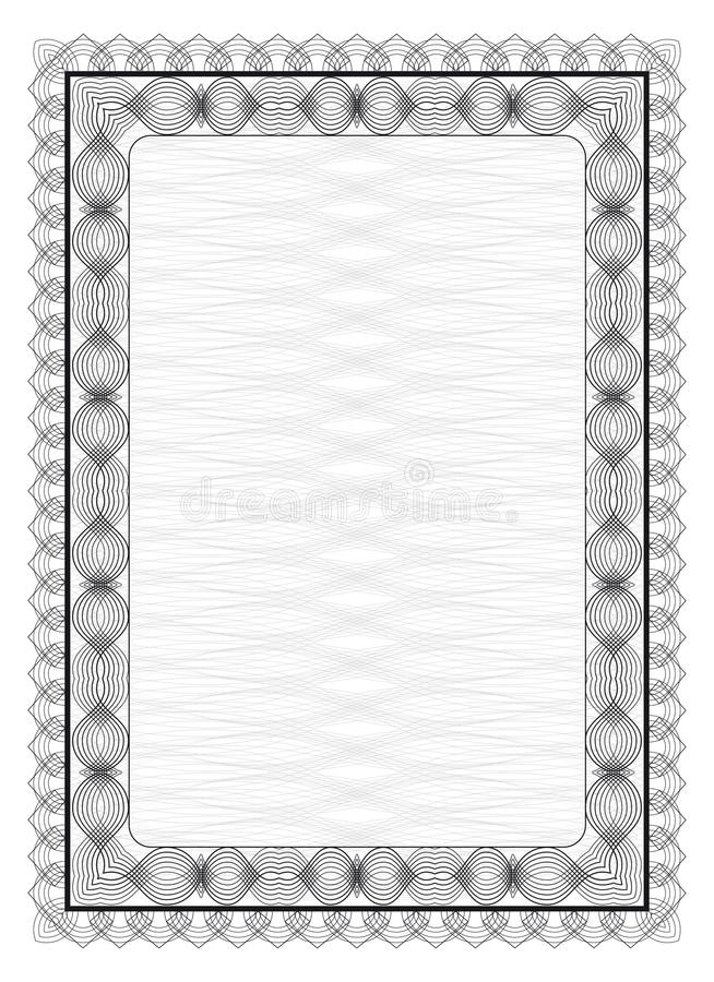 Frame with guilloche pattern royalty free illustration