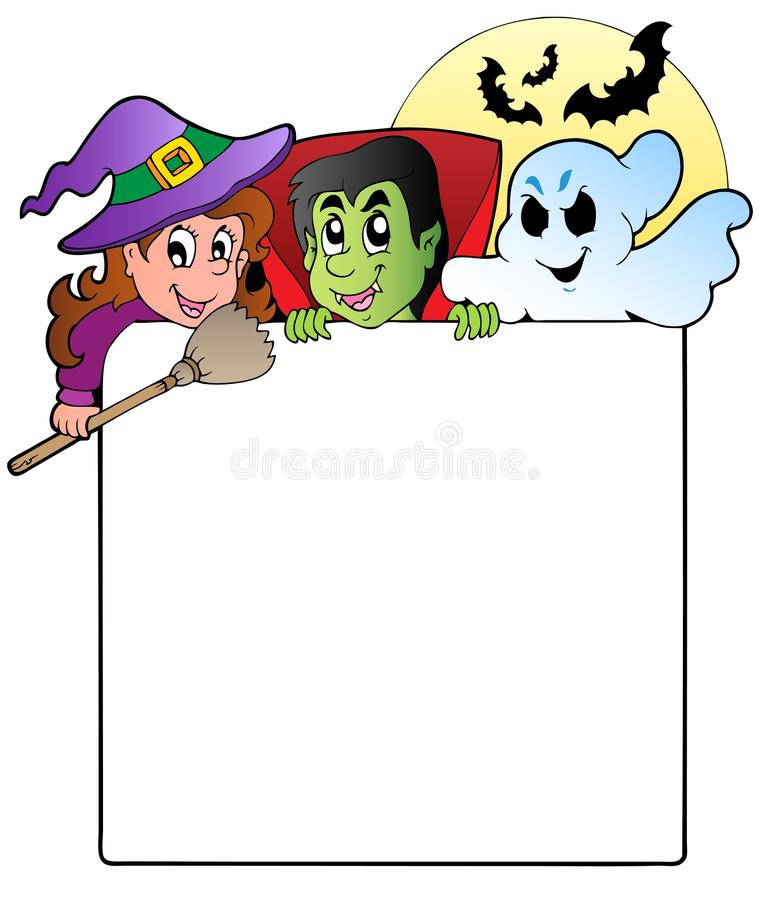 Download Frame With Halloween Characters 1 Stock Illustration - Illustration of composition, illustration: 21259811