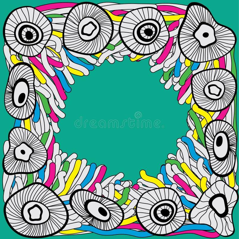 Frame Hand-drawn do doodle ilustração royalty free