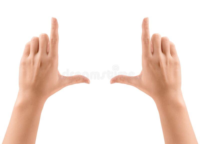 Frame handen stock foto's