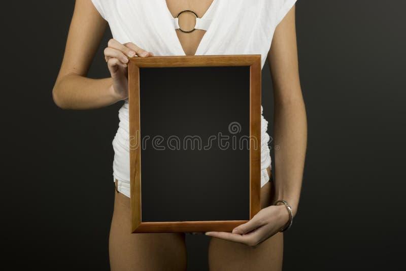 Frame in handen stock fotografie