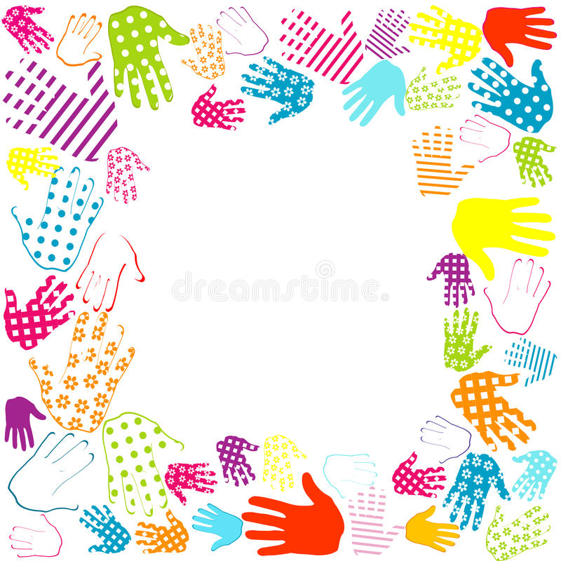 Frame With Hands Stock Photo