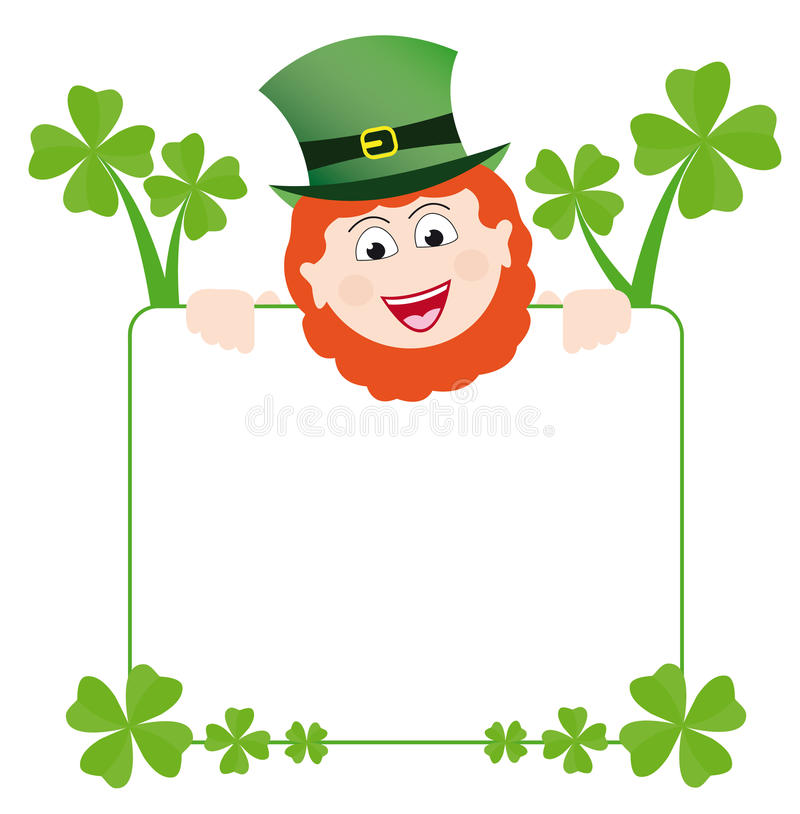 Download Frame With Happy Leprechaun Stock Vector - Image: 16864654