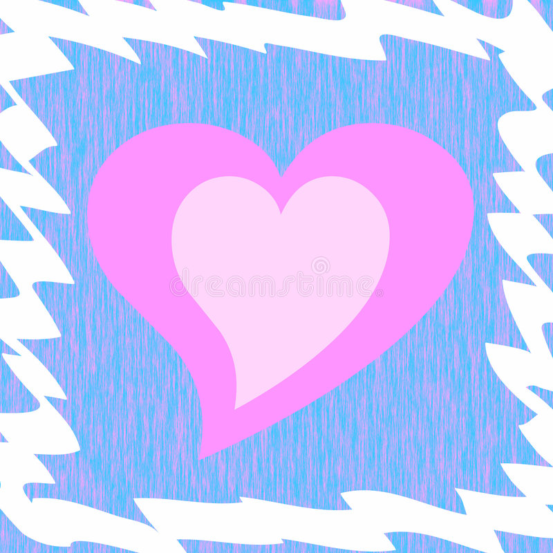 Frame hart royalty-vrije illustratie
