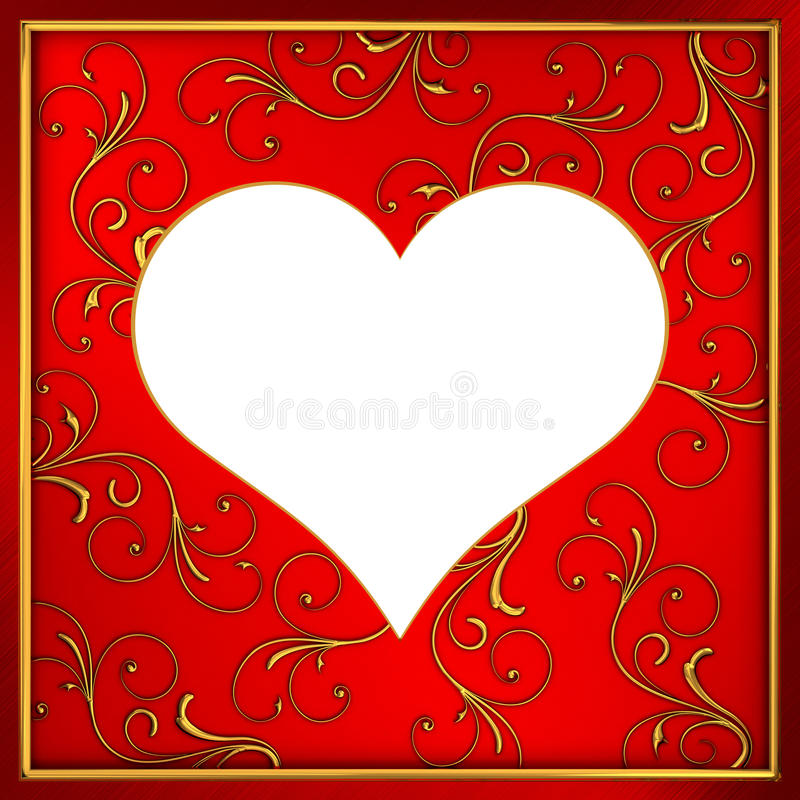 Frame heart stock illustration