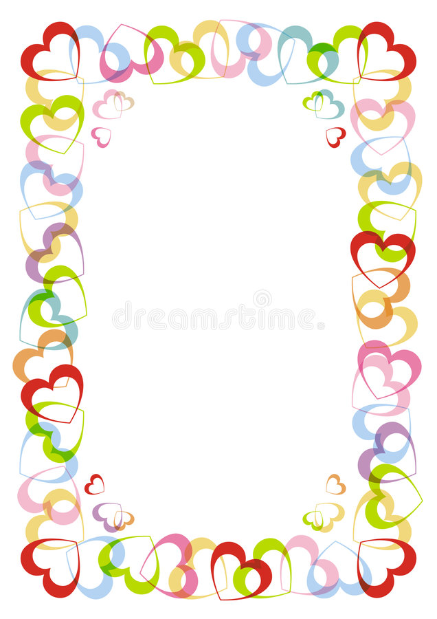 The Frame With Heart For Valentines Day Stock Vector - Illustration ...