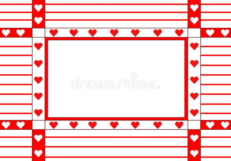 Download Frame with the hearts stock illustration. Illustration of persons - 10139496