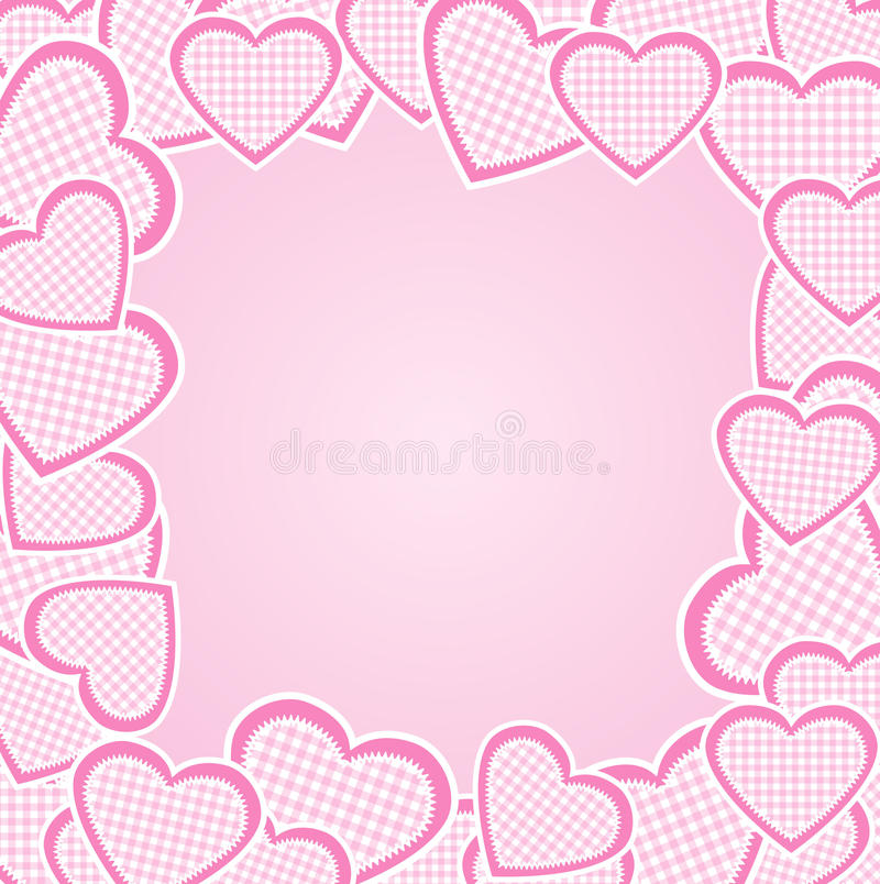 Download Frame with hearts stock vector. Illustration of text - 22503755