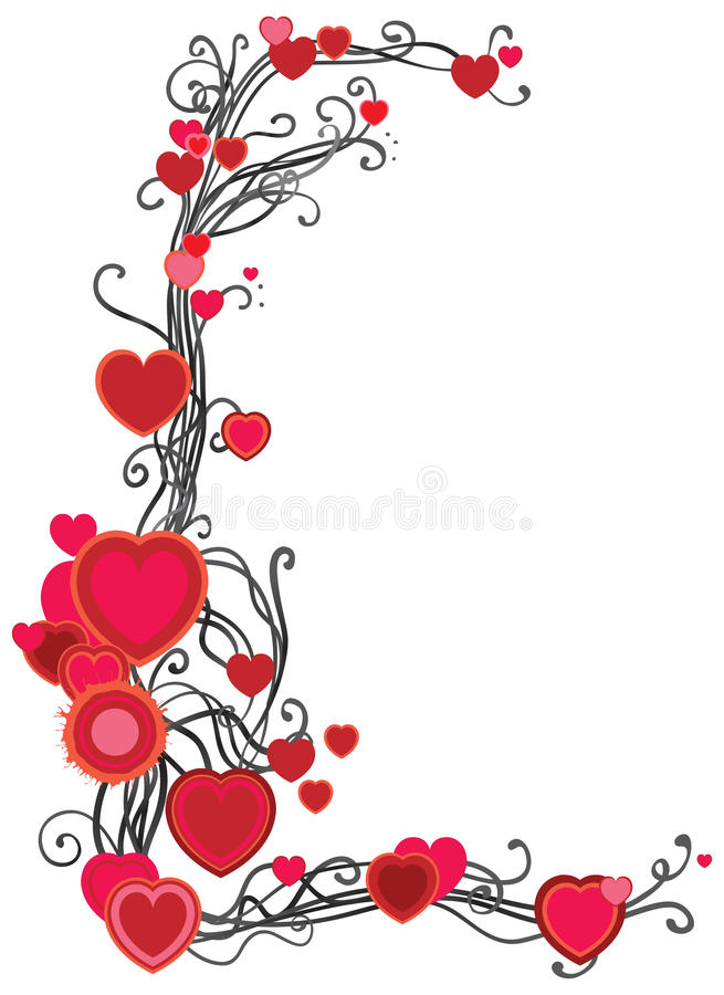 Download Frame with hearts stock vector. Illustration of many - 28612931