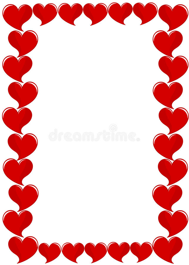 Frame of hearts stock vector. Illustration of symbolic - 28769589