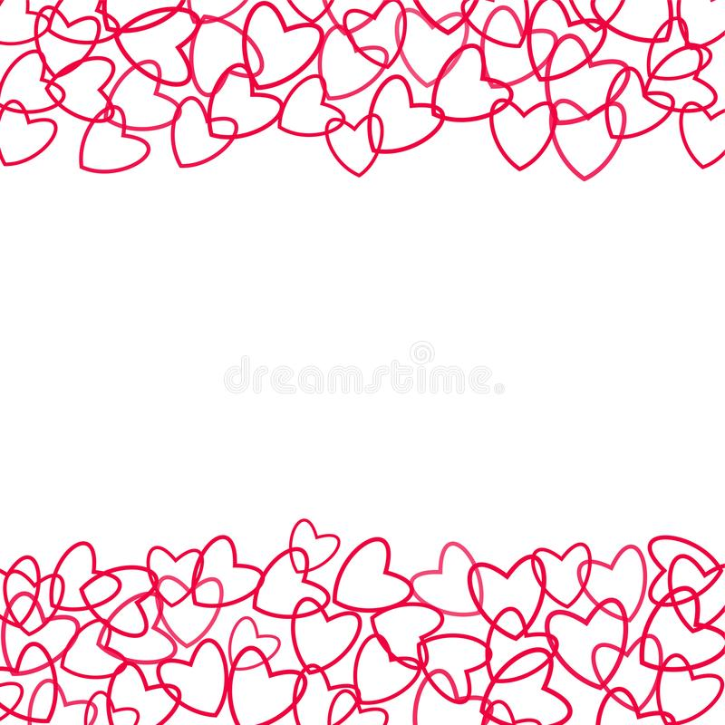 Frame Of Hearts For Decoration Of Cards, Invitations For Wedding ...